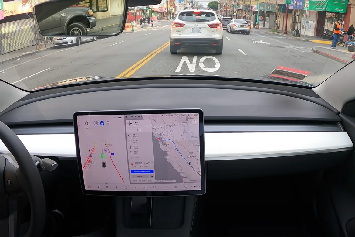 Watch Tesla's Full Self-Driving travel from SF to LA with (almost) no help